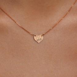 Auksinis vėrinys su širdele