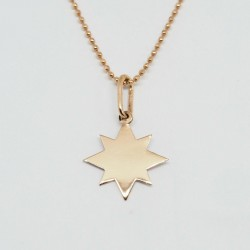 Auksinis graviruotas pakabukas Žvaigždė
